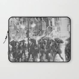 Rainy day in the city. Laptop Sleeve