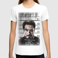 tony stark T-shirts featuring Tony Stark jailed by MkY111