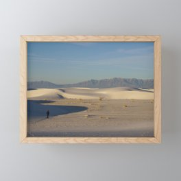 Adam in White Sands, New Mexico Framed Mini Art Print