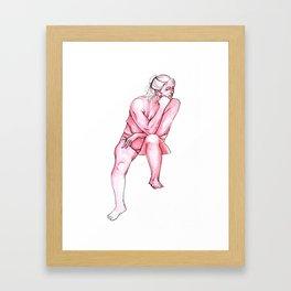 Pink Portrait  Framed Art Print