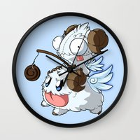 invader zim Wall Clocks featuring Invader Poro Pix by HelloTwinsies