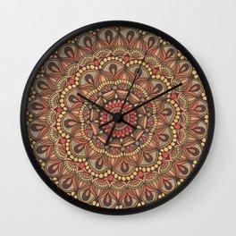 Rich Brown Arabian Pattern Wall Clock