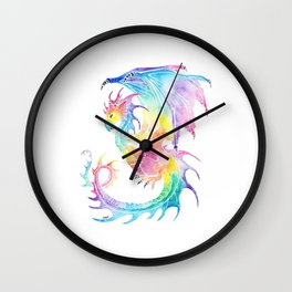Rainbow Dragon Wall Clock