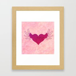Winged Heart Framed Art Print
