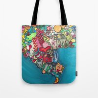 colombia Tote Bags featuring Colombia Verde by MikAnsart