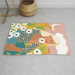 Patience & Humor Are The Two Camels That Can Take You Through Any Desert #painting #illustration Rug