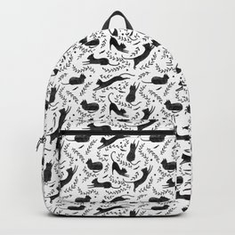 Black Cats Pattern Backpack