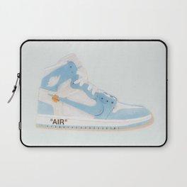 Jordan 1 Retro High Off-White University Blue Hightops, Kicks, Sneaker, Sneaker head Laptop Sleeve