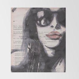 Irene [stolen portrait] Throw Blanket