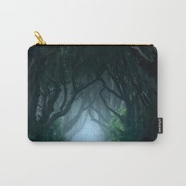 Cold foggy morning in Dark Hedges Carry-All Pouch