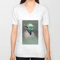 yoda V-neck T-shirts featuring Yoda by Big Tortoise Art (Art by JasonKoelliker)