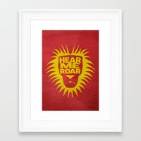 lannister Framed Art Prints featuring House Lannister - Hear Me Roar by Jack Howse
