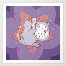 Opal Sleeping Art Print