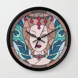 Countess Bathory - Stained Glass Wall Clock