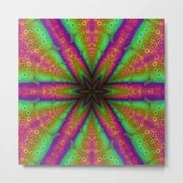 Neon Star Supermandala Metal Print