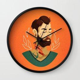 Grow Beard Wall Clock