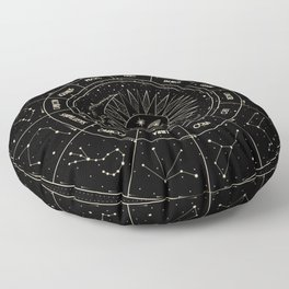 Zodiac Wheel Floor Pillow