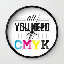 All You Need is CMYK Wall Clock