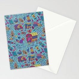 Caravan Pattern Stationery Cards