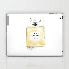 Perfume bottle fashion yellow Laptop & iPad Skin