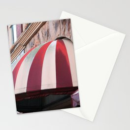 Striped Awning On Building  Stationery Cards