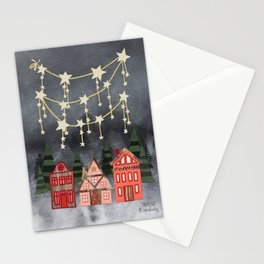 Holiday Hygge Village Stationery Cards