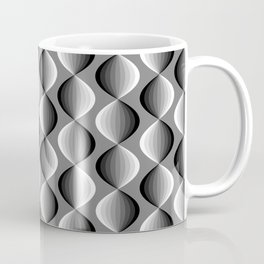 Abstract geometric grayscale pattern  Coffee Mug