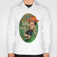 one piece Hoodies featuring Ace . One Piece by The Dragon Studio Store