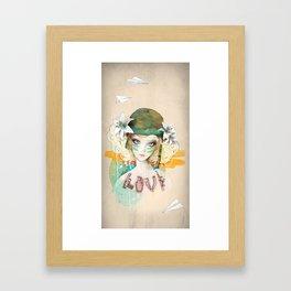 War girl Framed Art Print