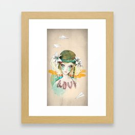 War girl Framed Art Print