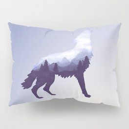 Wolf Double Exposure Surreal Wildlife Animal Wolves Gifts Pillow Sham