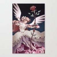 madoka magica Canvas Prints featuring Puella Magi Madoka Magica by Ravenno