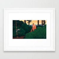 yeti Framed Art Prints featuring Yeti by Erin Loughery