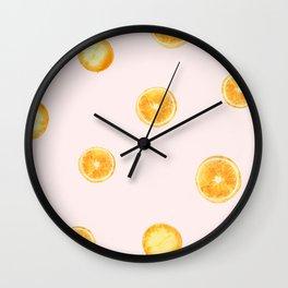 Orange watercolor Wall Clock