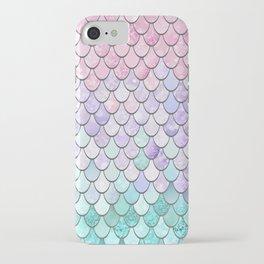 Mermaid Pastel Pink Purple Aqua Teal iPhone Case