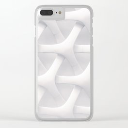 3D Abstract Clear iPhone Case