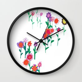 Flower Gathering Wall Clock
