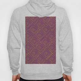 Squiggle Square Pattern Purple Hoody