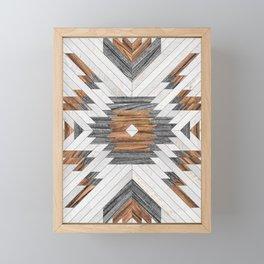 Urban Tribal Pattern No.8 - Aztec - Wood Framed Mini Art Print