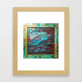 Just look up and believe Framed Art Print
