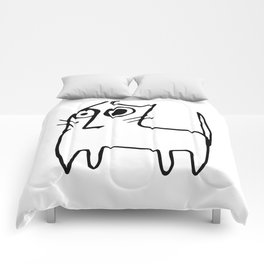 A mangy, miffed and slightly damaged cat Comforters