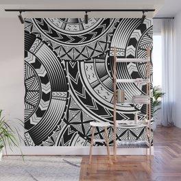 UrbanNesian Black and White Tatau Wall Mural