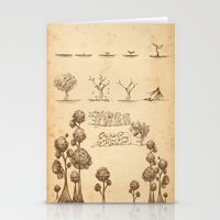 tree of life Stationery Cards featuring Tree Life by Mono Ahn