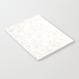 Elegant simple modern faux gold white floral Notebook