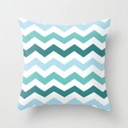 Chevron forest Throw Pillow