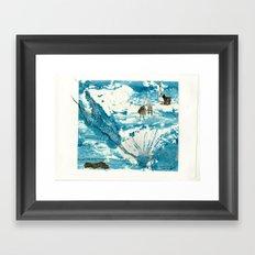 mermaid of Zennor collagraph 1 Framed Art Print
