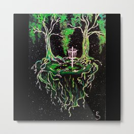 Swamp Discing Metal Print