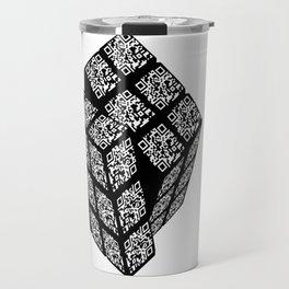 qr cube Travel Mug