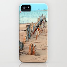 Wharf Remains on the Beach iPhone Case