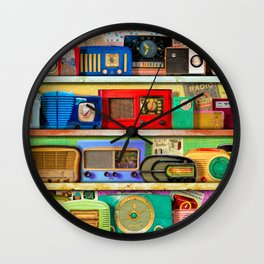 The Golden Age of Radio Wall Clock